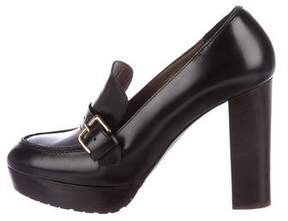 Marni Leather Loafer Pumps