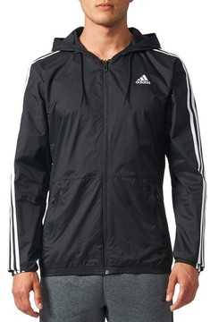adidas Men's Essentials 3-Stripes Wind Zip Hoodie