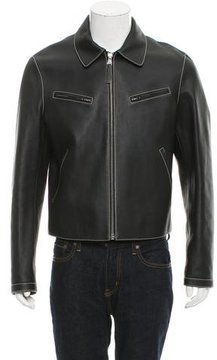 Louis Vuitton Structured Leather Jacket