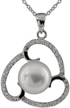 Bella Pearl Sterling Silver Triple Swirl Pearl Pendant