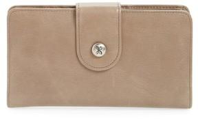 Hobo Women's 'Danette' Glazed Leather Continental Wallet - Grey