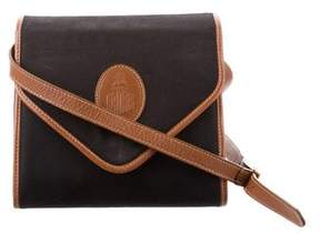 Mark Cross Leather-Trimmed Canvas Bag