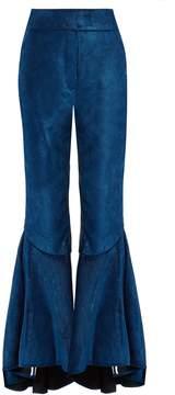 Ellery Hysteria ruffled-cuff cropped corduroy trousers