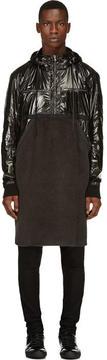 Damir Doma Black Fleece and Nylon Runway Coat