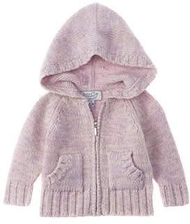 Baby CZ Girls' Purple Cashmere Hoodie.