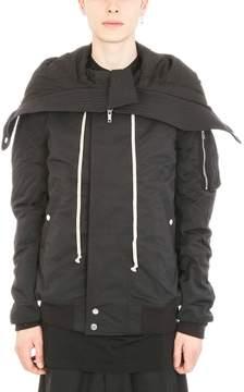 Drkshdw Glitter Hooded Bomber Short Jacket
