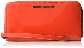 Armani Exchange A X Round Zip with Lace Patent Wallet