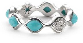 Elizabeth Showers Simone Turquoise/Sapphire Eternity Stack Ring, Size 7