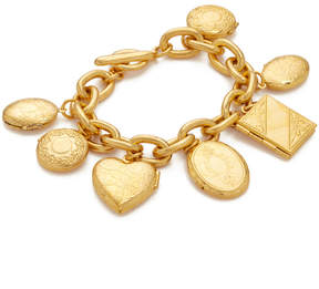 Ben-Amun Gold Chain Locket Pendant Bracelt