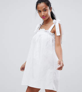 Fashion Union Petite Sun Dress With Tie Shoulders
