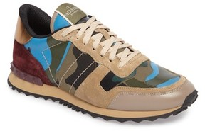 Valentino Men's Camo Rockrunner Sneaker