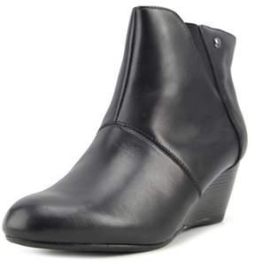 Hush Puppies Poised Rhea Women Open Toe Leather Black Wedge Heel.