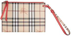 Burberry Haymarket Zip Pouch - RED - STYLE