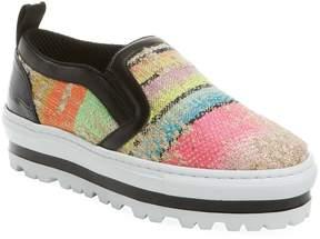 MSGM Women's Woven Slip-On Sneaker