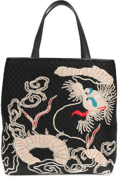 Ermanno Scervino quilted tote bag with embroidery