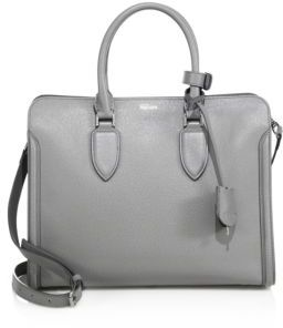Alexander McQueen Heroine Large Leather Open Tote