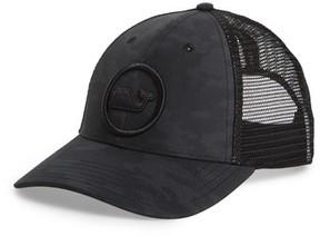 Vineyard Vines Men's Whale Dot Puff Trucker Cap - Black