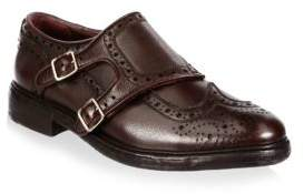 Burberry Del Mar Monk-Strap Leather Loafers