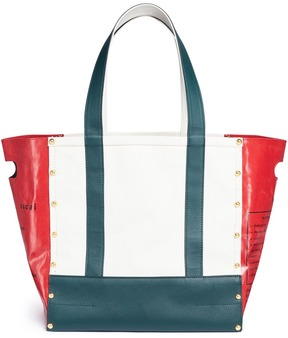 Sacai 'Garden' colourblock tote
