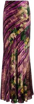 Alberta Ferretti long abstract skirt