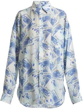 Balenciaga Euro-printed silk-crepe shirt