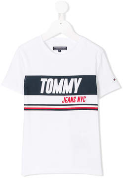 Tommy Hilfiger Junior printed logo T-shirt