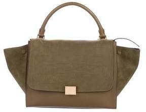 Celine Embossed Medium Trapeze Bag