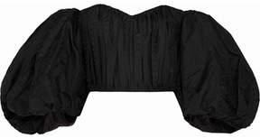 Ellery Lady Chatterly Off-the-shoulder Silk-blend Jacquard Top - Black