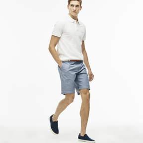 Lacoste Men's Regular Fit Gingham Cotton Canvas Bermuda Shorts