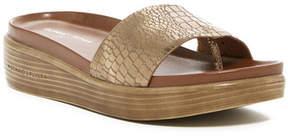 Donald J Pliner Fiji Croc Embossed Platform Hidden Thong Sandal