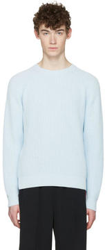Ami Alexandre Mattiussi Blue Ribbed Sweater