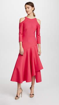 Temperley London Mercury Plain Ruffle Dress
