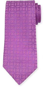 Charvet Interlocking Printed Silk Tie, Pink