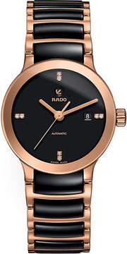 Rado R30183712 Centrix rose gold and black ceramic watch