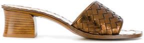 Bottega Veneta woven block heel sandals
