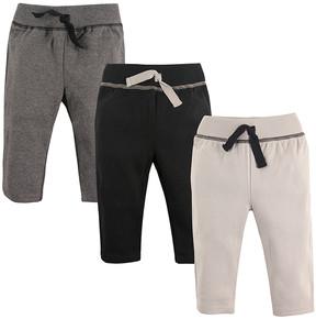 Hudson Baby Black & Gray Track Pants Set - Newborn & Infant