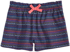 First Impressions Geo-Print Striped Cotton Shorts, Baby Girls, Created for Macy's
