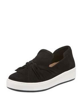 Donald J Pliner Celest Ruching Suede Sneaker, Black