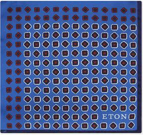 Eton Square print silk pocket square