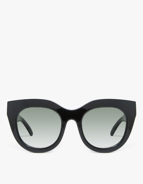 Le Specs Air Heart in Black/Gold