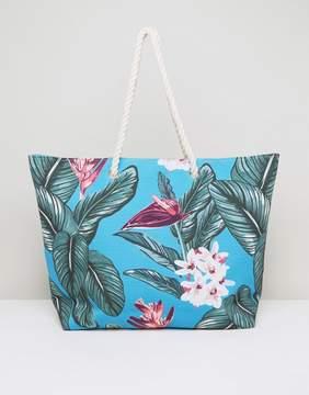 South Beach Hawaiian Print Beach Bag