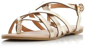 Head Over Heels *Head Over Heels by Dune Gold 'Luciles' Flat Sandals
