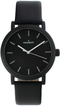 Peugeot Men's Casual Leather Watch - 2059BK