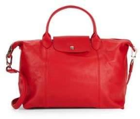 Longchamp Small Le Pliage Leather Tote