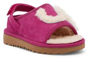 UGG Genuine Shearling Slide Sandal (Toddler & Little Kid)
