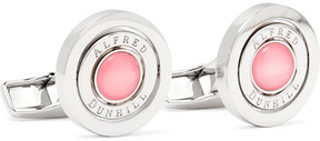 Dunhill Gyro Rhodium-Plated Quartz Cufflinks
