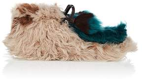 Prada Women's Fur Moccasin Ankle Boots