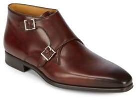 Magnanni Double Monk-Strap Leather Derbys