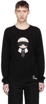 Fendi Black Karlito Sweater