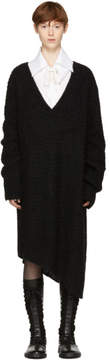 Ann Demeulemeester Black Mohair Trapper Dress